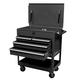 Sunex 8054BK 4-Drawer Service Cart with Locking Top (Black)