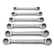GearWrench 9260 6-Piece Metric Double Box Ratcheting Wrench Set