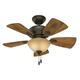 Hunter 52090 34 in. Watson New Bronze Ceiling Fan with Light