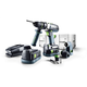 Festool 564597 QUADRIVE 18V 5.2 Ah Cordless Lithium-Ion 13mm Hammer Drill and Attachments Kit