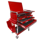 Sunex Tools 8013ADELUXE Deluxe 4 Drawer Service Cart with Locking Top (Red)