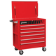 Sunex 8057 Full 6 Drawer Professional Duty Service Cart (Red)