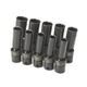 SK Hand Tool 33375 10-Piece 3/8 in. Drive Metric Swivel 6 Point Impact Socket Set
