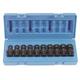Grey Pneumatic 1210UMSD 10-Piece 3/8 in. Drive Semi-Deep Metric Universal Socket Set