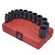 Sunex Tools 3337 12-Piece 3/8 in. Drive 12-Point SAE Semi-Deep Impact Socket Set