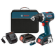 Factory Reconditioned Bosch DDS182-02-RT 18V Cordless Lithium-Ion 1/2 in. Brushless Compact Tough Drill Driver Kit