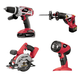 Factory Reconditioned Skil 2898LI-20-RT 18V Cordless Lithium-Ion 4-Tool Combo Kit