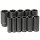 Grey Pneumatic 1311SD 11-Piece 1/2 in. Drive 8-Point SAE Deep Impact Socket Set