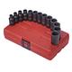 Sunex Tools 3338 13-Piece 3/8 in. Drive 12-Point Metric Semi-Deep Impact Socket Set