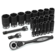 Grey Pneumatic 82622D 22-Piece 1/2 in. Drive 6-Point SAE Deep Duo Impact Socket Set