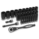 Grey Pneumatic 82629MD 29-Piece 1/2 in. Drive 6-Point Metric Deep Duo Impact Socket Set
