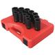 Sunex Tools 2693 12-Piece 1/2 in. Drive Metric Deep Impact Socket Set