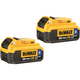 Dewalt DCB204BT-2 20V MAX 4.0 Ah Lithium-Ion Bluetooth Battery (2-Pack)