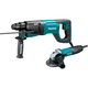 Makita HR2641X1 1 in. AVT Rotary Hammer and 1/2 in. Angle Grinder Combo Kit