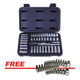 ATD 1200PRO 44-Piece 1/4 in. 6-Point SAE and Metric Pro Socket Set with FREE 35-Piece Start Bit Socket Set