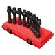 Sunex 2695 1/2 in. Drive 9 Piece Metric 12 Pt Driveline Socket Set