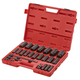 Sunex 2824 1/2 in. Drive 24 Piece SAE 6 Pt Deep Impact Socket Set