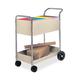 Fellowes 40922 20 in. x 40-1/2 in. x 39 in. 150 Folder Steel Mail Cart (Grey)