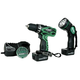 Factory Reconditioned Hitachi DS12DVF3 12V Cordless 3/8 in. Ni-Cd Drill Driver Kit with Flashlight