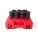 Sunex Tools 4667 7-Piece 3/4 in. Drive Truck Pinion Locknut Impact Socket Set