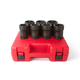 Sunex 4667 7-Piece 3/4 in. Drive Truck Pinion Locknut Impact Socket Set