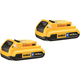 Dewalt DCB203BT-2 20V MAX 2.0 Ah Lithium-Ion Bluetooth Compact Battery (2-Pack)