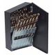 Irwin Hanson 73138 15-Piece High Speed Steel Drill Bit Set with Turbo Point Tip