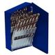 Irwin Hanson 73149 21-Piece High Speed Steel Drill Bit Set with Turbo Point Tip