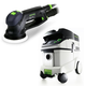 Festool P36571782 Rotex 5 in. Multi-Mode Sander with CT 36 E 9.5 Gallon HEPA Mobile Dust Extractor