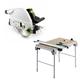 Festool C2495315 Plunge Cut Circular Saw plus Multi-Function Work Table