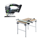 Festool C28495315 Carvex 18V Cordless Lithium-Ion D-Handle Jigsaw (Bare Tool) plus Multi-Function Work Table