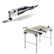 Festool C31495315 Vecturo 3.3 Amps Oscillating Multi-Tool Kit plus Multi-Function Work Table