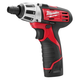 Milwaukee 2401-21 M12 12V Cordless Lithium-Ion Sub-Compact Screwdriver Kit