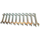 V8 Tools 9810 10-Piece SAE Jumbo Angle Head Wrench Set