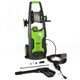 Greenworks 5100302 13 Amp 1,950 PSI 1.2 GPM Electric Vertical Pressure Washer with Hose Reel