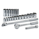 SK Hand Tool 4123 23-Piece 1/2 in. Drive 12-Point Std/Deep Well SAE Socket Set