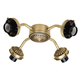 Hunter H22574 Antique Brass 4-Light Fitter