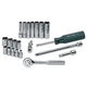 SK Hand Tool 4921 21-Piece 1/4 in. Drive 6-Point Std/Deep Well SAE Socket Set