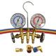 Mastercool 66773 R-12/R-134a Brass Manifold Gauge Set