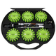 NightSearcher 511404 3.7V Rechargeable Lithium-Ion LED Warning Pulsar Lights (Green) (6-Pack)