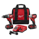 Factory Reconditioned Milwaukee 2798-82CT M18 Cordless Lithium-Ion Compact Brushless Drill and Impact Driver Combo Kit