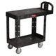 Rubbermaid 452500BK 25-1/4 in. x 44 in. x 38-1/8 in. Flat Shelf Utility Cart (Black)