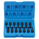 Grey Pneumatic 9298HC 14-Piece 1/4 in. Drive SAE/Metric Hex Driver Impact Socket Set