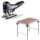 Festool C27500608 Carvex 18V Cordless Lithium-Ion Barrel Grip Jigsaw (Bare Tool) plus MFT/3 Basic  Multi-Function Work Table
