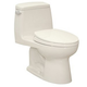 TOTO MS854114E-11 Eco UltraMax Elongated 1-Piece Floor Mount Toilet (Colonial White)