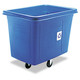 Rubbermaid 461673BE 500 lb. Capacity Recycling Cube Truck (Blue)