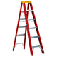 Louisville L-3016-04 4 ft. Type IA Duty Rating 300 lbs. Load Capacity Fiberglass Step Ladder