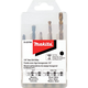 Makita D-23765 5-Piece 1/4 in. Hex Shank Masonry and Metal Drill Bit Set