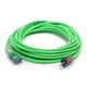 Century Wire D17444100 Pro Glo 15 Amp 12/3 AWG CGM SJTW Extension Cord - 100 ft. (Green)