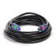 Century Wire D17448025 Pro Glo 15 Amp 12/3 AWG CGM SJTW Extension Cord - 25 ft. (Black)